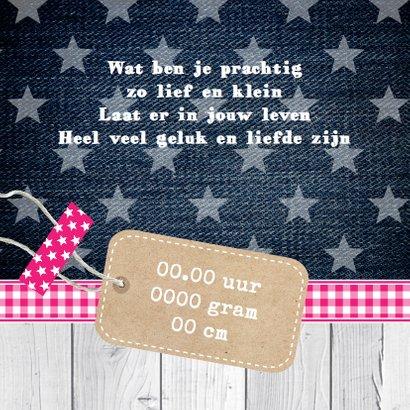 Geboortekaartje meisje foto label 2