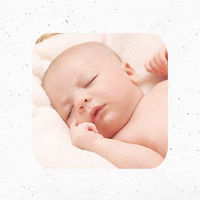 Geboortekaartje meisje hip met patroon en hart label 2