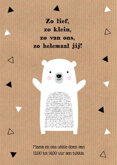 Geboortekaartje meisje ijsbeer kraft 2