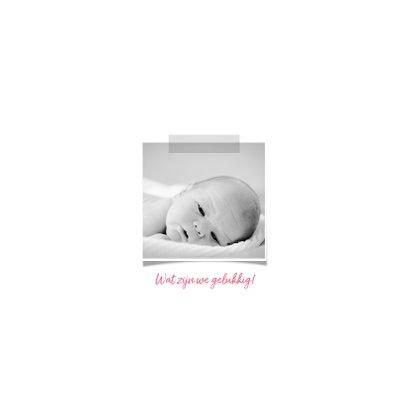 Geboortekaartje meisje strik 2