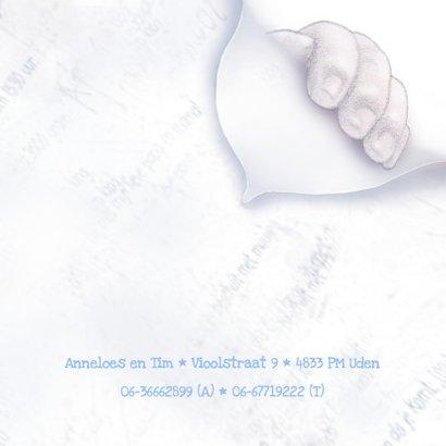 Geboortekaartje met babyvoetjes 3