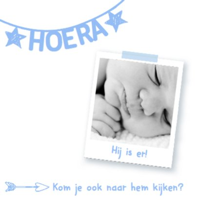 Geboortekaartje naamslinger hip 2