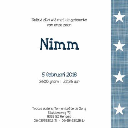 Geboortekaartje Nimm 3