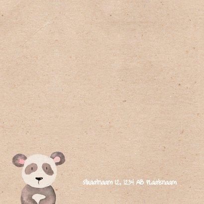 Geboortekaartje panda in waterverf 2