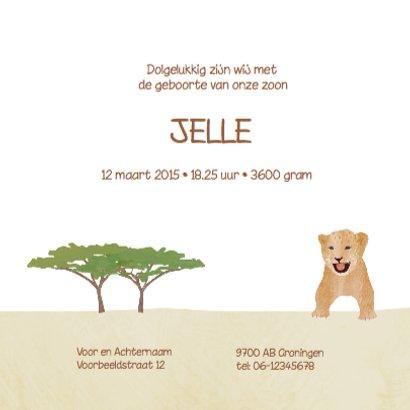 Geboortekaartje safari 3