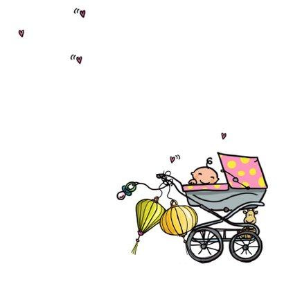 Geboortekaartje Spijltje meisje 3