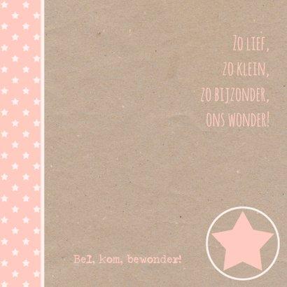 Geboortekaartje sterren kraft  2