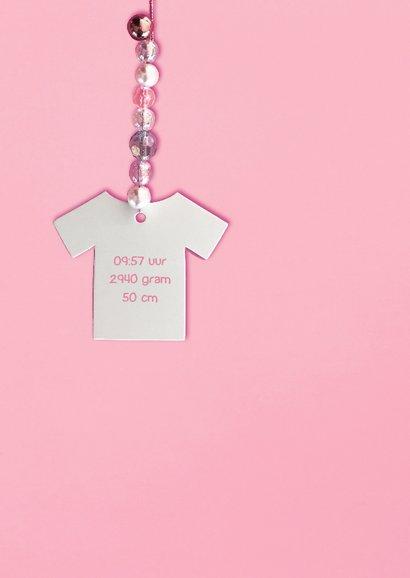 geboortekaartje babytruitje meisje kralen 2