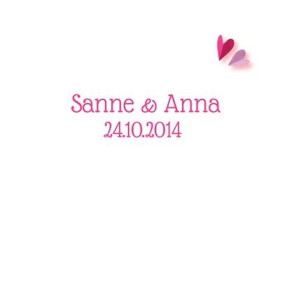 Geboortekaartje tweeling roze 3