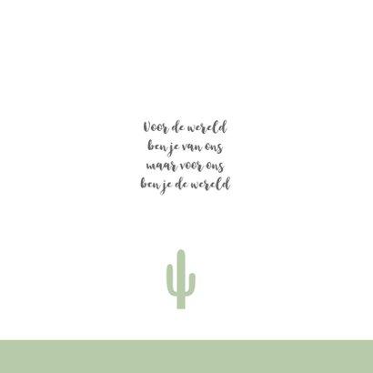 Geboortekaartje vierkant cactus groen 2