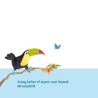 Geboortekaartje vogeljungle 2
