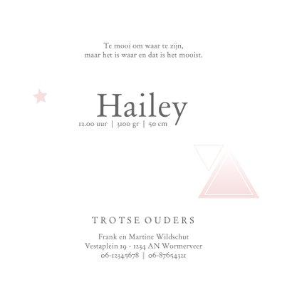 Geboortekaartje voor een meisje met geometrie en sterren 3