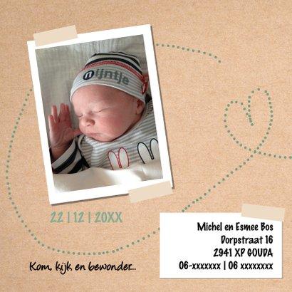Geboortekaartje voor een stoere en lieve jongen 2