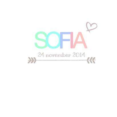 Geboortekaartje vrolijk Sofia 3