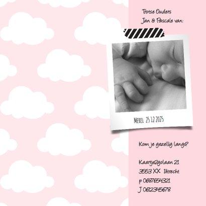 Geboortekaartje wolkje Hello Sweet Baby Girl 2