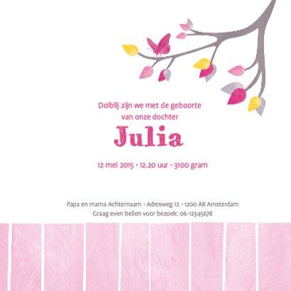 Geboortje meisje uiltje roze 3