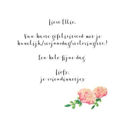 'Gefeliciteerd'kaart geschreven in bloemen 3