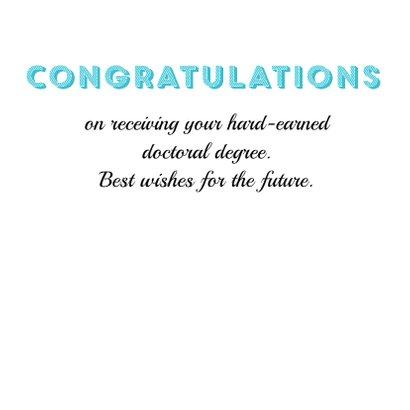 Gefeliciteerd met je promotie Doctor, well done! 3