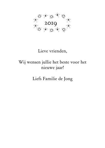 Gelukkig nieuwjaar 2019 zwart wit 3