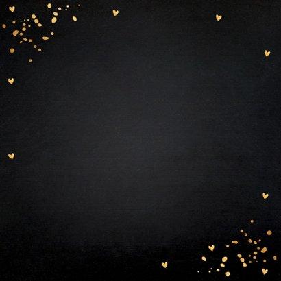 Getuige kaart goud confetti 2