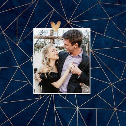 Getuige trouwkaart geometrisch goudlook stijlvol 2