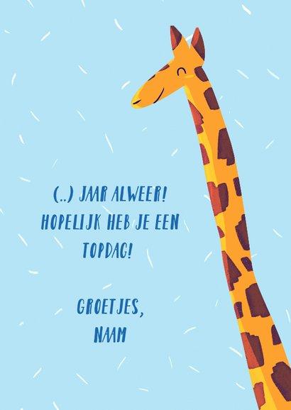 Giraffe Happy Birthday 3