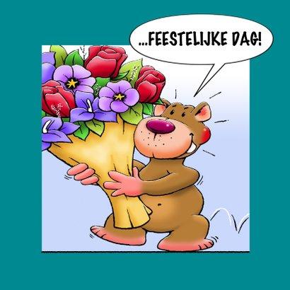 Grappige verjaardagskaart met leuke beer als stripverhaal 3