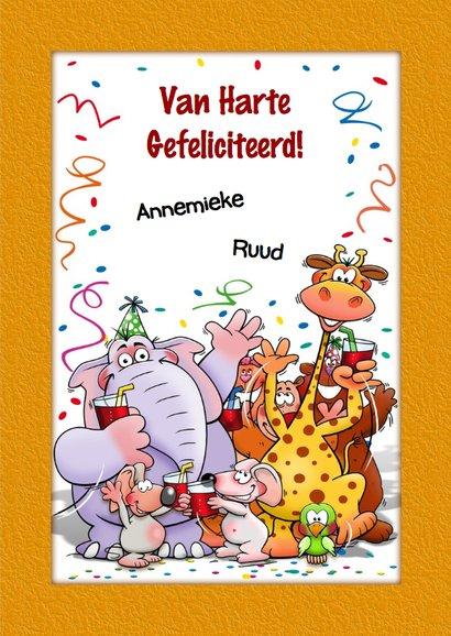 Grappige verjaardagskaart voor kind dat 3 jaar wordt 3