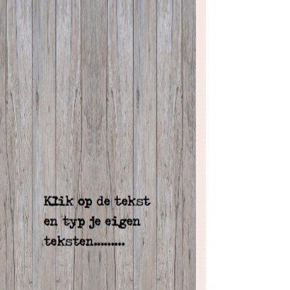 Grijze houten verhuiskaart 3