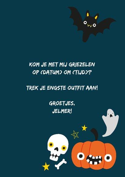 Halloweenkaart met vrolijke illustratie 3