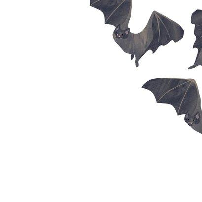 Halloweenkaart vleermuizen  3