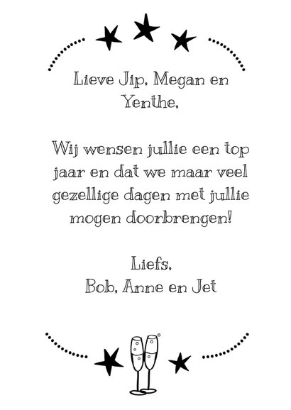 Happy 2019 new year zwart wit 3
