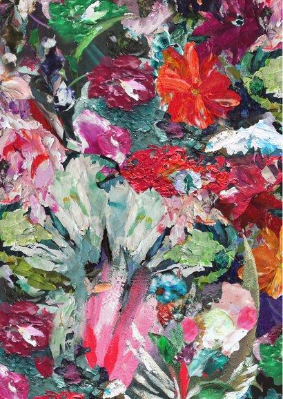 Happy Birthday bloemen kunst 2
