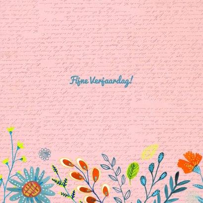 Happy Birthday Bloempjes roze 3
