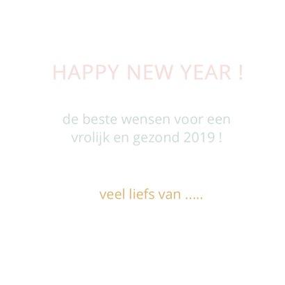 Happy new year geometrisch roze 3