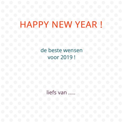 Happy new year met gekleurde stippen 3