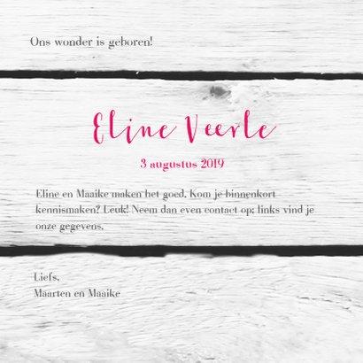 Harten roze tekst houtprint 3