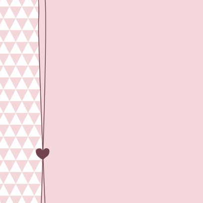 Hartje, driehoekjes, meisje 2
