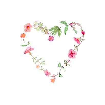 Hartje van bloemen zomaar kaart 2