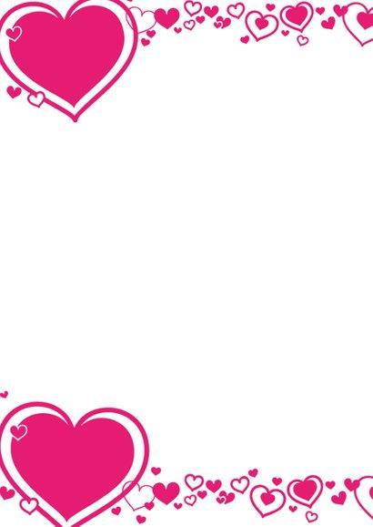 HARTJES Fotokaart met roze hartjes 2