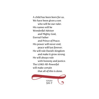 HEE Goodies kerstkaart Jesaja 9 2