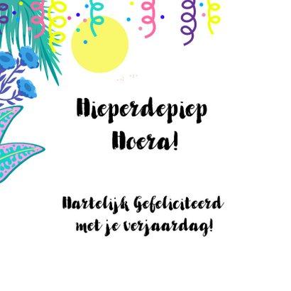 Hippe en trendy verjaardagskaart met jungle thema 2