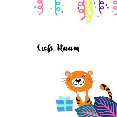 Hippe en trendy verjaardagskaart met jungle thema 3
