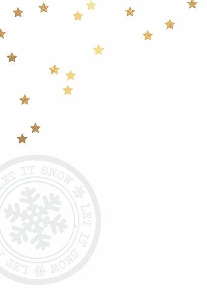 Hippe kerstkaart sterren foto 2