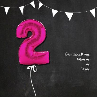 Hippe Uitnodiging Krijt 2 Roze - SG 2