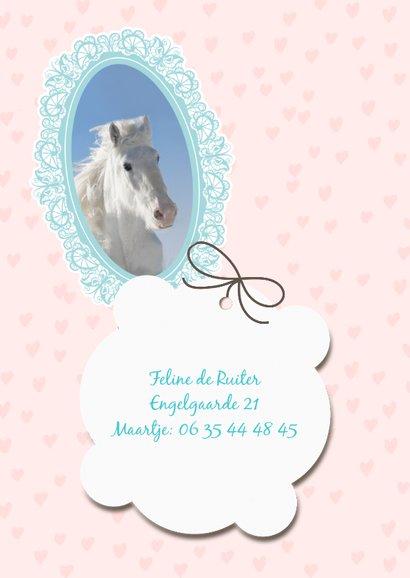 Hippe uitnodiging met paardje 2