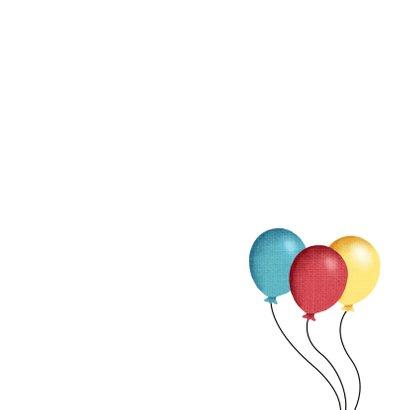 Hondje en ballonnen en slingers 3