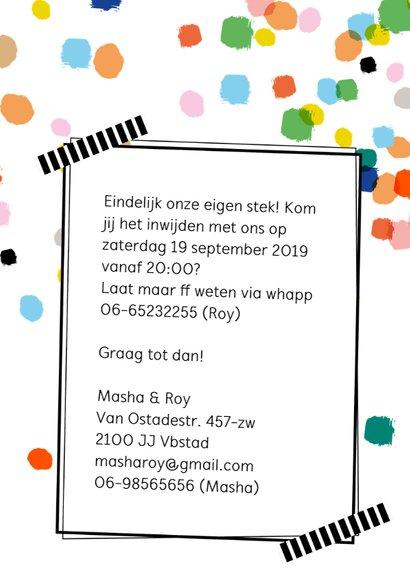 Housewarming confetti eigen foto en achtergrondkleur 3