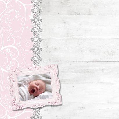 Hout met label roze meisje - BK 2