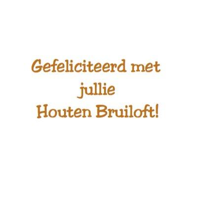 Houten bruiloft - 5 jaar getrouwd 3